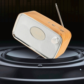 ретро будильник радио | Портативный Bluetooth динамик Ретро Bluetooth аудио сабвуфер многофункциональный компьютер динамик беспроводной стерео сабвуфер