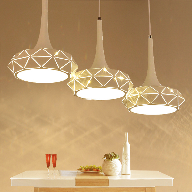 Iron 3 Pcs suspension Bar Lighting modern Led Pendant Lamps For Dining Room Kitchen Lights Luminaire Crack Hanging Pendant Light