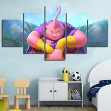 5 Piece Anime Poster Dragon Ball Buu Fanart Cartoon Wall Stickers Canvas Paintings for Home Decor Art