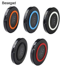 Besegad Qi Wireless Charger Pengisian Pad Tikar untuk Samsung Galaxy S8 Plus S7 S6 Edge Note 5 Google Nexus 4 5 6 7 Nokia(China)