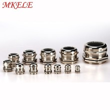10pcs/lots Cable Glands PG19 Nickel Brass Metal Waterproof  Joints IP68 cable connector for 10-14mm cable стоимость
