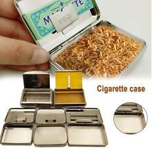 Роскошный ящик для хранения табака портативный увлажняющий контейнер для сигарет герметичный ультратонкий металлический чехол для сигарет случайный цвет