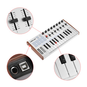 Image 5 - WORLDE TUNA MINI 울트라 포터블 25 키 USB MIDI 키보드 컨트롤러 페달 잭 MIDI 키보드가있는 8 개의 RGB 백라이트 트리거 패드