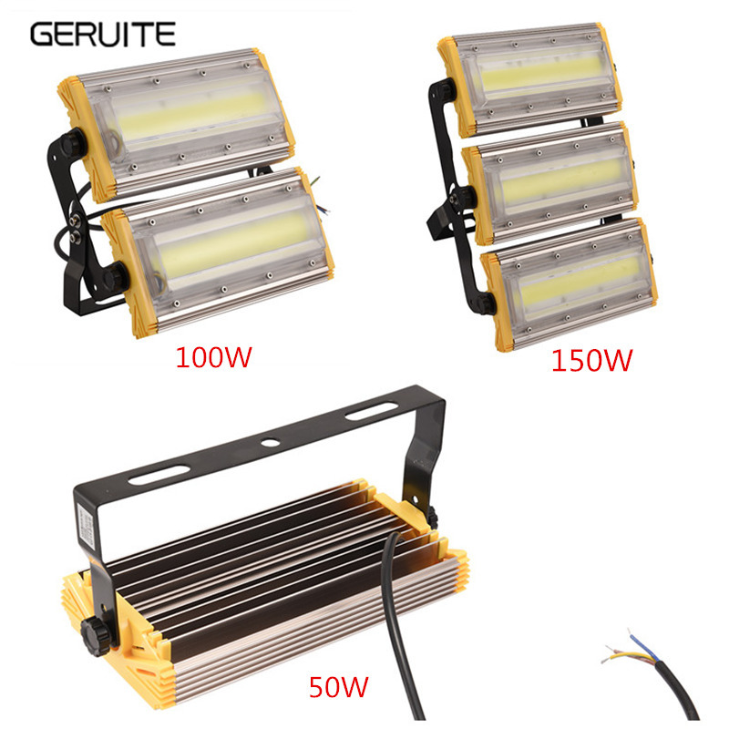 1Pcs Module Flood Light 150W 100W 50W LED Floodlight IP65 110V/220V LED Spotlight Refletor Outdoor Lighting Garden Lamp 1pcs lot sh b17 50w 220v to 110v 110v to 220v