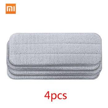 Xiaomi Mijia Deerma Replace Mop For Mi Mijia Water Spray Mop 360 Rotating Cleaning Cloth Head Wooden Carbon Fiber Cloth C2