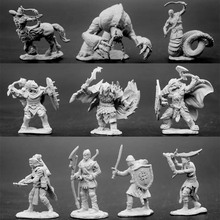 1/72 Resin Scale Model Dragons And Dungeons DND Series Magic Figure Monsters Lizard People Albuginea Diy Kit Toys Hobbies Sale