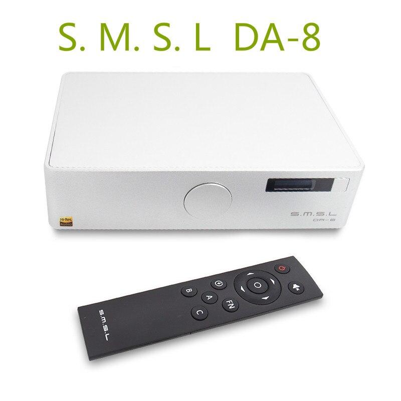 SMSL DA-8 ICEpower50ASX2 NJW1194 Hi-Res Desktop High Performance Digital Power Amplifier Headphone AMP