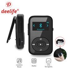 Deelife Спорт Bluetooth MP3 плеер цифровой 8 GB Клип Мини с Экран Регистраторы fm-радио шагомер Поддержка TF карты MP3 воспроизведения музыки