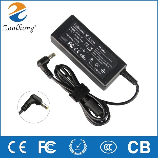 19V 3.42A 65W dla Chicony na laptopa ładowarka do acer Gateway MS2285 MS2274 NV78 CPA09 A065N1 A065R035L A11 065N1A adapter ac