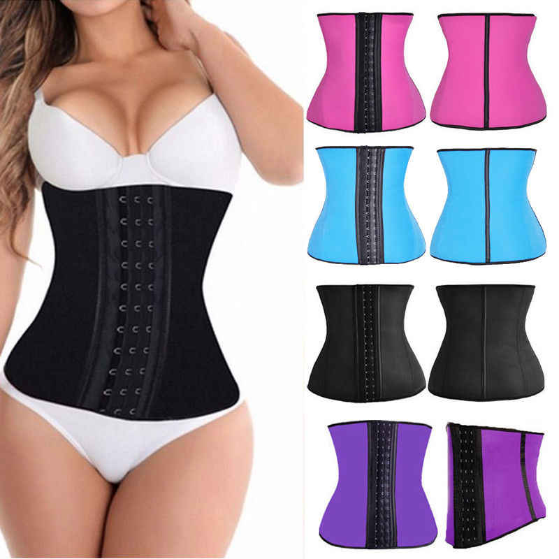 Hirigin Dropshipping vrouwen Latex Underbust Shaper Body Taille Clincher Taille Training Corset Trainer Riem Plus Size Shaper
