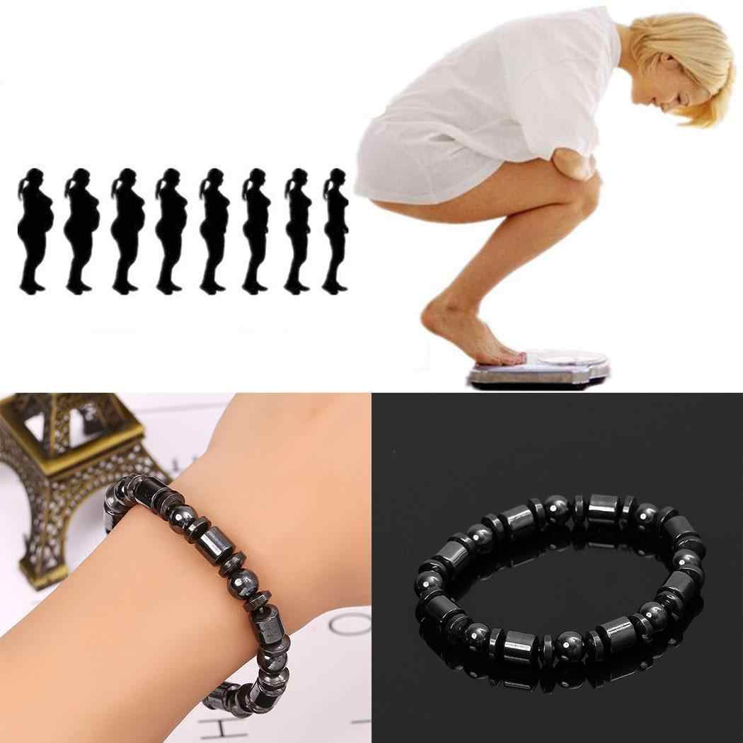Slimming 8inch Health Women 7cm Gallstone Wristband 2 Elastic Magnetic Everyday Black Care Magnet Bracelet