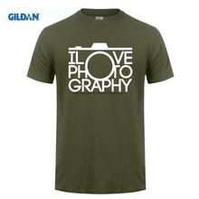 GILDAN Men T Shirt Funny Clothing Casual Short Sleeve T-Shirts I Love Photography Mens High Quality Tees