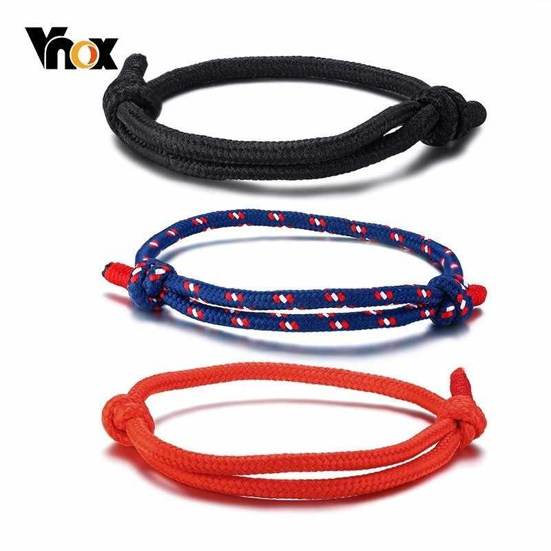 Vnox 3 Pcs/Set Casual Sports Rope Bracelets for Women Men Kids Unisex Handmade Braid Tribal bilezik Accessories