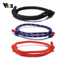 Vnox 3 Pcs/Set Casual Sports Rope Bracelets for Women Men Kids Unisex Handmade Braid Tribal bilezik Accessories(China)