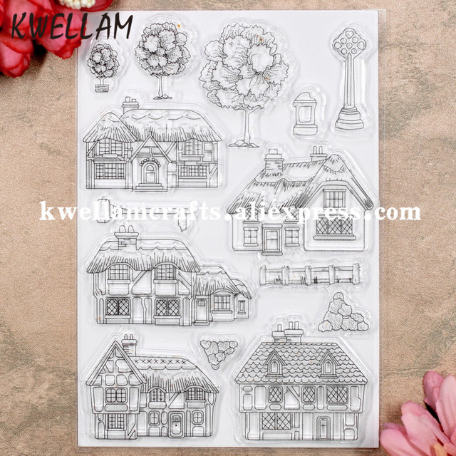 Tree House Scrapbook DIY photo cards rubber stamp clear stamp transparent stamp 11x16cm KW8053015