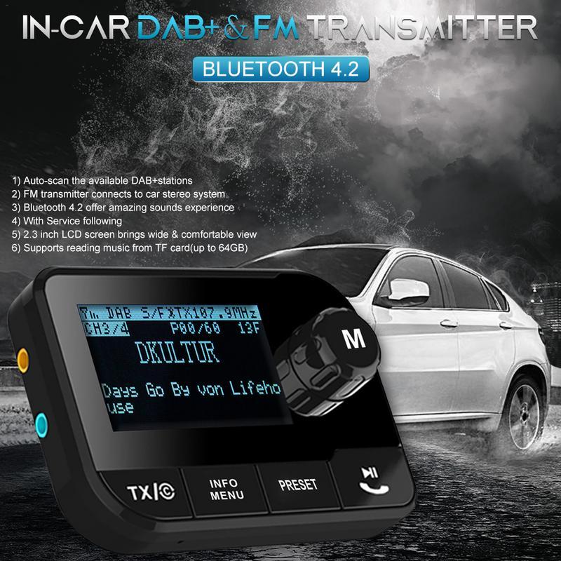 Nouvelle voiture DAB adaptateur Radio numérique transmetteur FM récepteur Bluetooth Kit mains libres voiture lecteur de musique MP3 adaptateur Radio Portable