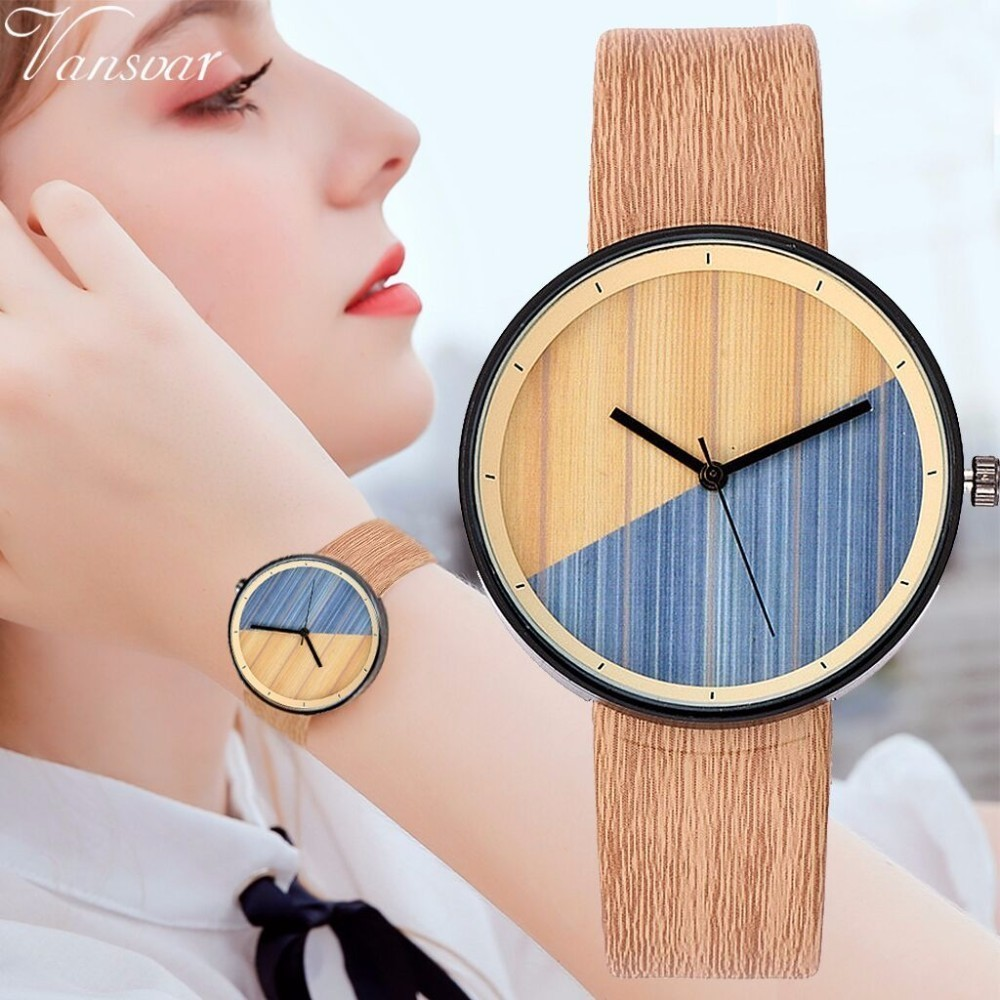 Best Selling Fashion Women Wood Watch Luxury Imitation