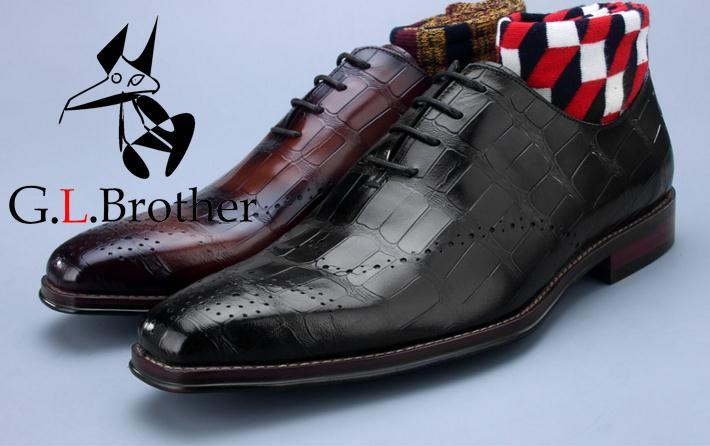 Dress Shoes Men Genuine Leather Lace Up Argly Check Plaid Smart Casual Shoes Handmade Carved Brogues Wedding Groom Oxfords loose fit casual thicken plaid lace up wool pants for men