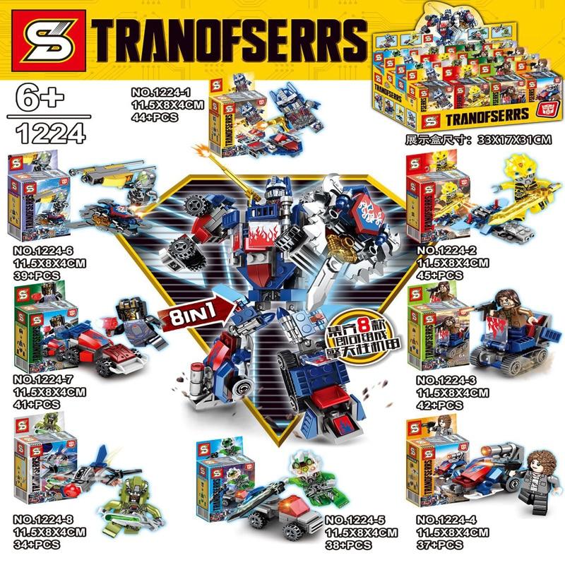 Blocks Toys & Hobbies Gudi 193pcs 3 In 1 Transformable Robot Toy Blocks Bricks Diy Changeable Building Blocks Sets Educational Toys For Children