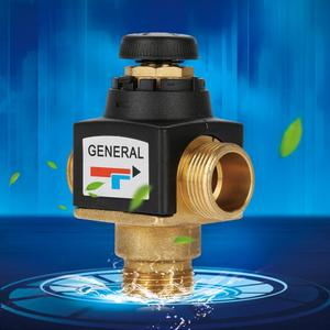 Image 5 - Hot 1Pc 3 Way DN20 Male Thread Brass Thermostatic Mixing Valve for Solar Water Heater
