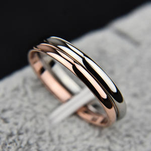 1PC Simple Women Men Couples Rings Wedding Jewelry Gift