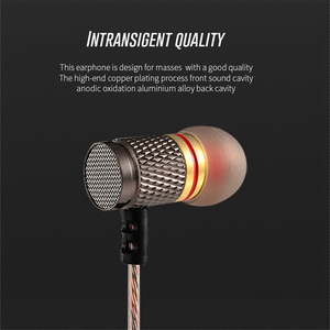 Image 4 - KZ EDR1/ED2 Metal In Ear Earphone Noise Cancelling Gold Plated Earbuds Fever Heavy Bass HiFi Earpiece With Microphone