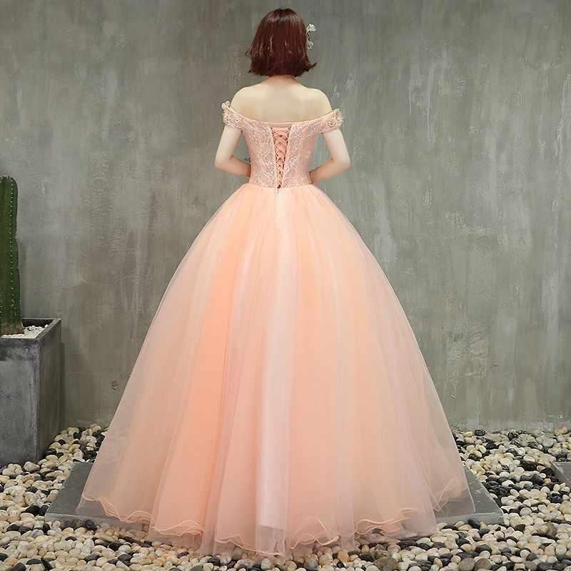 2019 Дешевые Бальные платья бальное платье с открытыми плечами милое 16 Пышное Бальное платье принцессы для выпускного на 15 лет