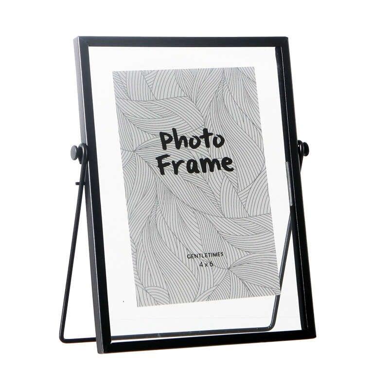 Eerlijk 6 Inch Nordic Geometrische Metalen Glas Fotolijst Creatieve Wanddecoratie Foto Decoratieve Fotolijst