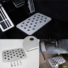 1pc Silver 300*200*4mm Universal 100% Brand New And High Quality Aluminum Truck Car Floor Mat Carpet Heel Plate Foot Pedal Rest