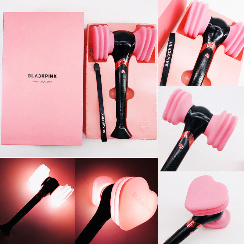 Official BLACKPINK LightStick Concert Glow Lamp Hammer Light Stick JISOO Lisa JENNIE ROSE Fans Gifts Led Luminous Novelty Toys