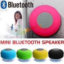 Portable Waterproof Mini Bluetooth Speaker Wireless Handsfree Speakers With Suction Cup For Showers Bathroom Pool Car Beach(China)