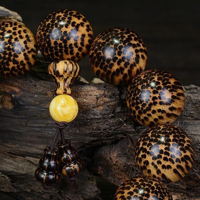 Snake Scale Wood Buddha Bracelet