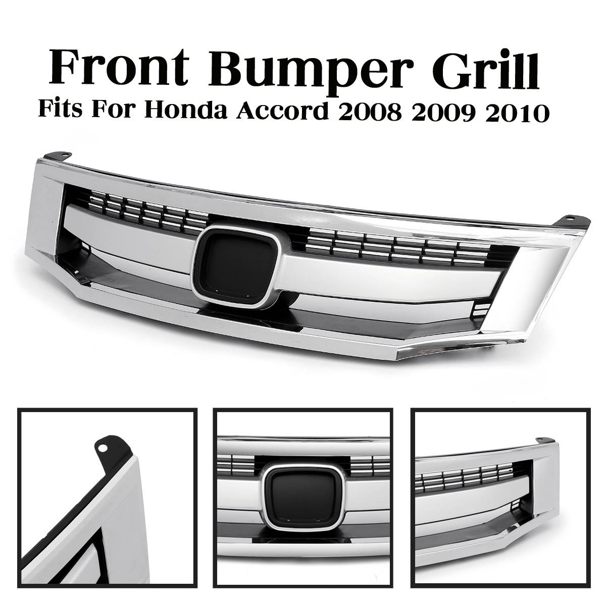 Car Front Bumper Sport Model Chrome Upper Grille <font><b>Grill</b></font> Car Styling <font><b>Grill</b></font> Replacement Parts For <font><b>Honda</b></font> for <font><b>Accord</b></font> <font><b>2008</b></font> 2009 2010 image