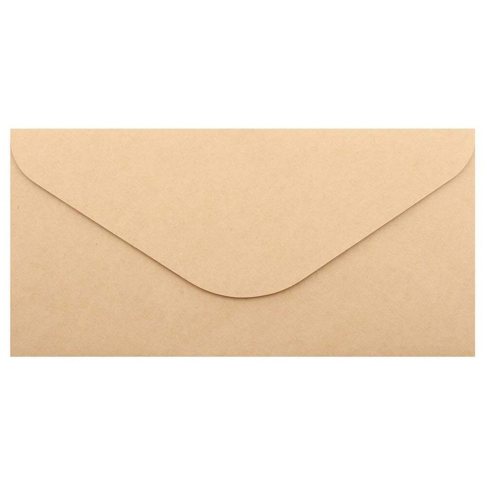 50pcs Kraft Paper Envelopes For Wedding Announcement 110x220mm