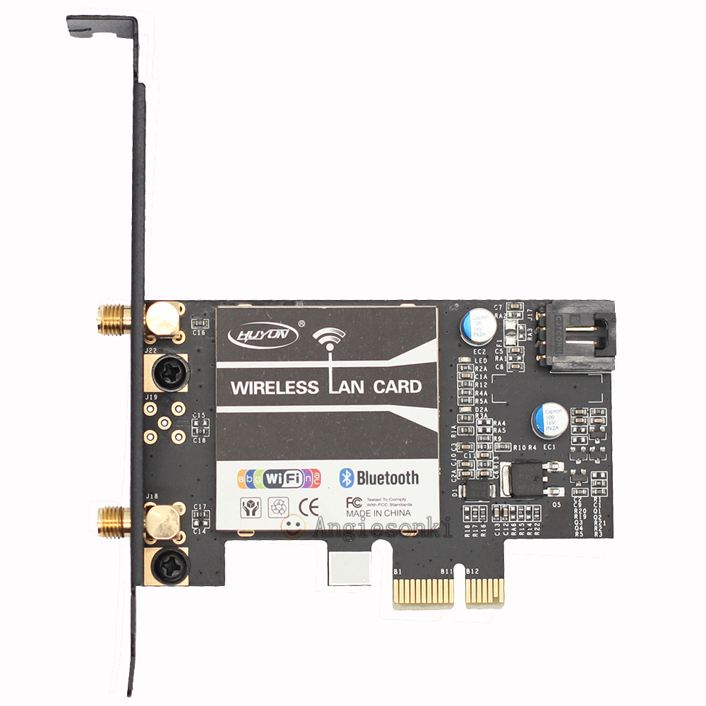 BCM94352 <font><b>802.11AC</b></font> 867Mbps WiFi&Bluetooth 4.0 PC Desktop WLAN <font><b>modul</b></font> Card adapter &3DBI antenna&Bracket For Win7/8/10 image