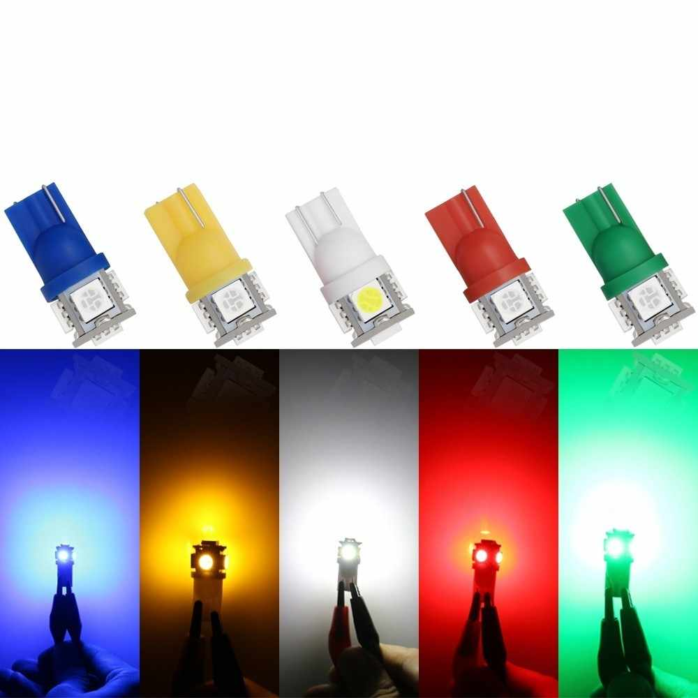 10PCS Led Car DC 12v Led Light T10 5050 194 168 w5w T10 Led Parking Bulb Auto Wedge Clearance Lamp