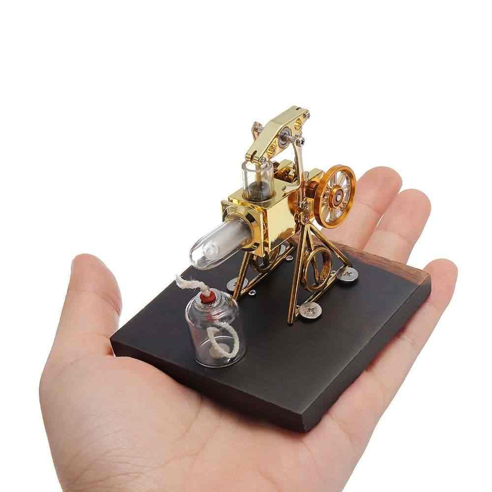 "Mini 2.1 ""Chama Modelo Do Motor Stirling de Ar Quente Do Motor Stirling Modelo Coleção Presente Brinquedo Educacional"
