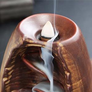 Image 5 - Brûleur dencens à reflux de fumée en céramique aromathérapie four cône encens cascade montagne rivière artisanat porte encens