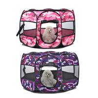 Portable Folding Dog Tent House Cage Puppy Pets Playpen Octagonal Fence