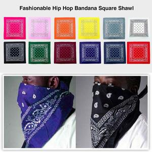 Image 3 - Fashionable Hip Hop Bandana Portable Outdoor Headscarf Square Shawl 55Cm Black Red Headband Printed For Women Men Boys Girls