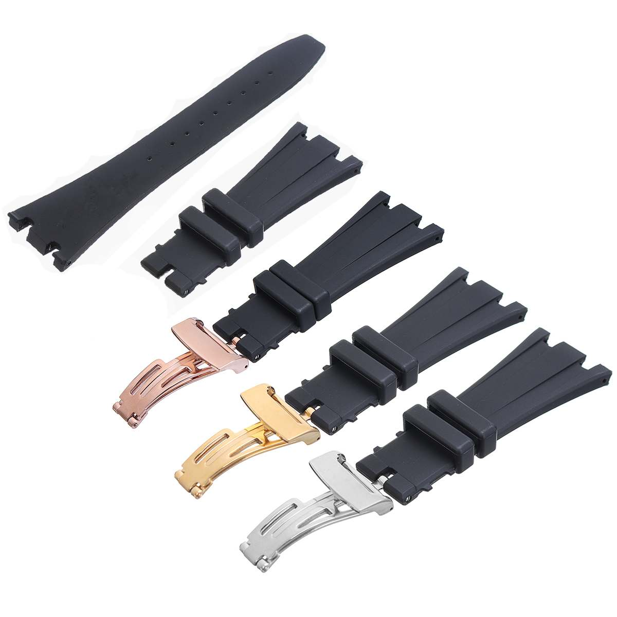 28mm Width Silicone Watch Strap Replacement Repair Watch Strap Belt Accessories For AUDEMARS PIGUET ROYAL OAK OFFSHORE