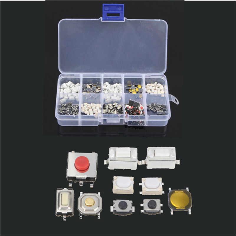 Сплав PB01 250 шт./кор. 10 типов Тактильный кнопочный выключатель кнопки дистанционного управления Сенсор сенсорный переключатель Микропереключатель с сертификатом CE