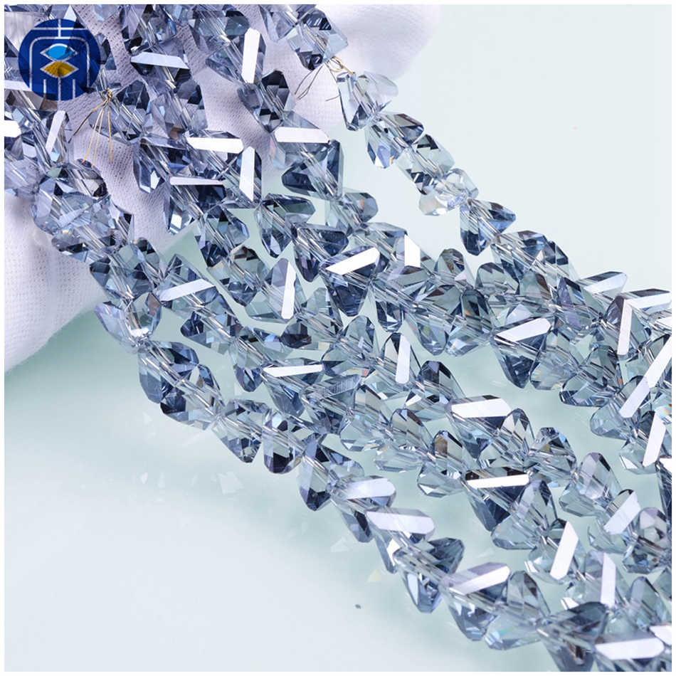 Contas Fábrica 4 JuleeCrystal/6/8/10mm Triângulo Atacado Grânulos De Vidro Para A Tomada de DIY