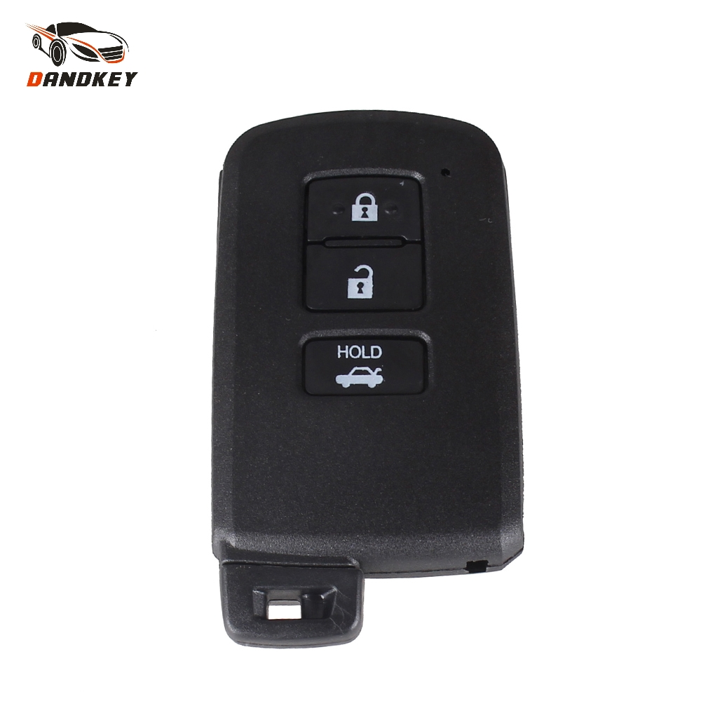 Dandkey Replacement Smart Remote <font><b>Key</b></font> Shell <font><b>Case</b></font> 3 Button For <font><b>Toyota</b></font> Avalon Camry <font><b>RAV4</b></font> 2012 2013 <font><b>2014</b></font> 2015 <font><b>Key</b></font> Fob Cover image
