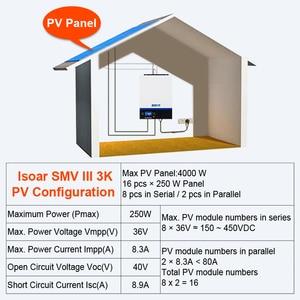 Image 5 - EASUN güç Bluetooth invertör 3000W 500Vdc PV 230Vac 24Vdc 80A MPPT güneş şarjı mobil izleme USB LCD kontrol