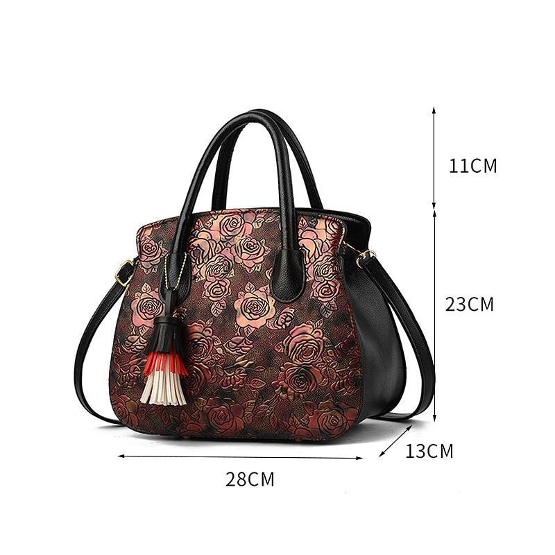 purple Marca Handbag Nappa Spalla red Lusso Handtasche Borse Handbag Donne Handbag Likethis Black Progettista Crossbody Appliques A Ricamo Del 2019 Di OwTawYqH