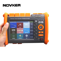 NOVKER OTDR NK5600 Fiber Optic otdr Reflectometer with OPM OLS VFL OLT, Report Printed, Touch Screen, FC SC ST