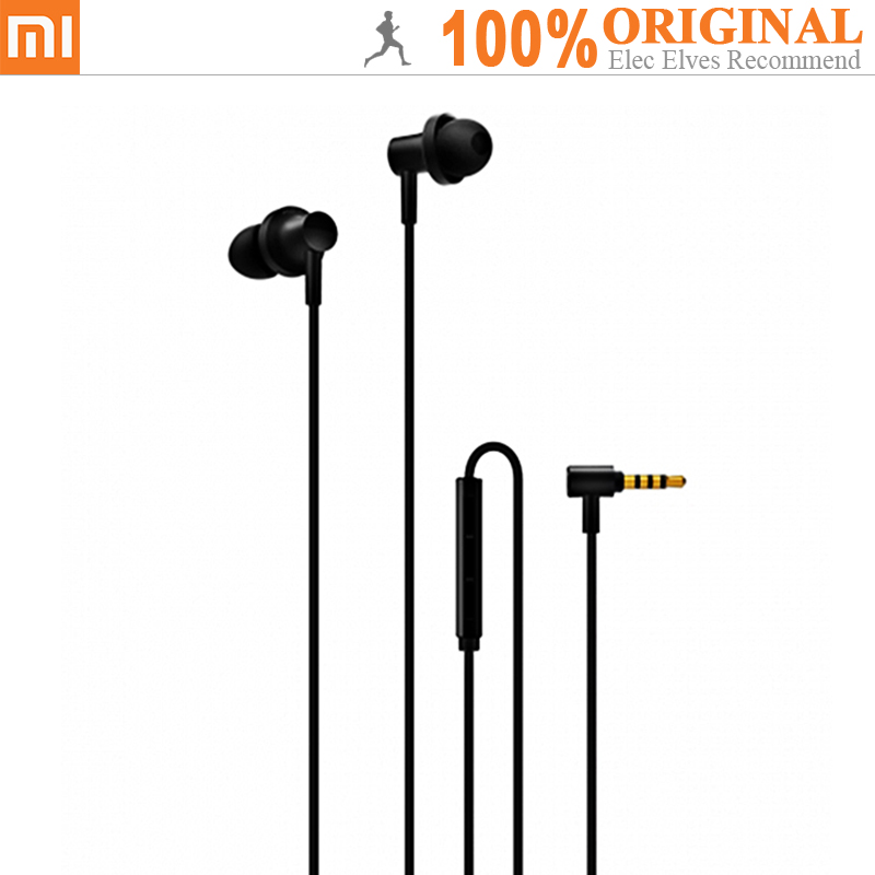 Original Xiaomi QTEJ03JY Hybrid Dual Drivers Earphones Wired Control Earbuds With Microphone Noise Cancelling Answering Phone наушники xiaomi hybrid dual drivers earphones piston 4 золотой