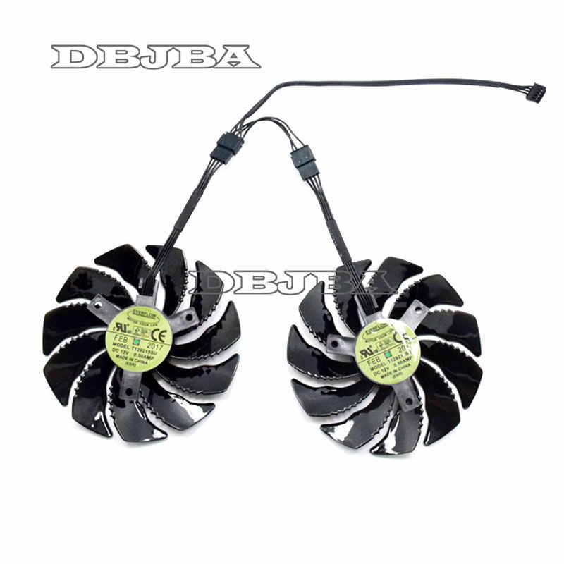 88mm T129215SU 1 cặp Card Đồ Họa Làm Mát Fan Đối Với Gigabyte GeForce GTX 1050 Ti RX 480 470 570 580 GTX 1060 G1 Chơi Game Mát