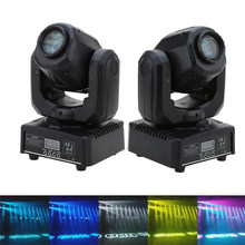 30W DMX512 Head Moving Sound Control 9 / 11 Channels Rainbow 7 Colors Changing Light LED Stage Pattern Lamp for Disco KTV Party(China)